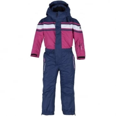 Kids One Piece Suit - Nautico Blue/Pink