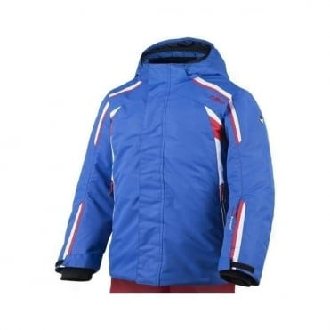 Junior Boys Stretch Ski Jacket - Royal Blue