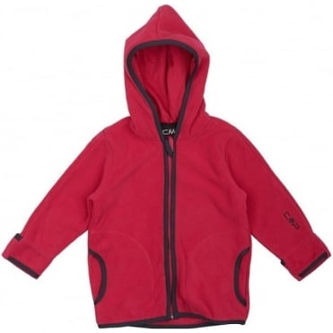Junior Baby Fleece Hooded Jacket - Scarlett Pink