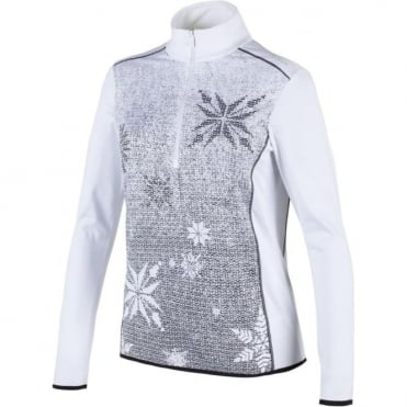 Campagnolo Superoubaix 1/2 Zip - Knit Print White