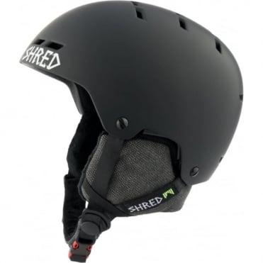 Shred Helmet Bumper No Shock Warm - Blackout Black