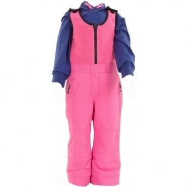 Kids Fleece Bib Salopette - Hot Pink
