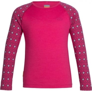 Kids Oasis Long Sleeve Crewe Align - Pop Pink