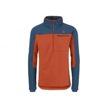 Mens Defined Warm Hoody - Eclipse Blue / Burnt Orange