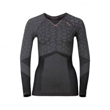 Wmns Blackcomb Evolution Warm Baselayer Shirt - Concrete Grey/Black/Fleur De Lotus
