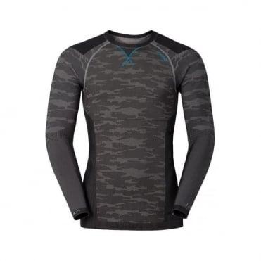 Mens Blackcomb Evolution Warm L/s Baselayer Shirt - Concrete Grey/Black