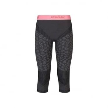 Wmns Blackcomb Evolution Warm 3/4 Baselayer Pants - Concrete Grey/Black/Fleur De Lotus