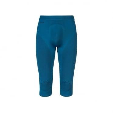 Mens Evolution Warm 3/4 Baselayer Pants - Seaport Blue/Black