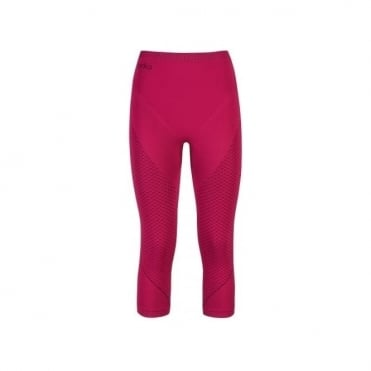 Wmns Evolution Warm 3/4 Baselayer Pants - Red