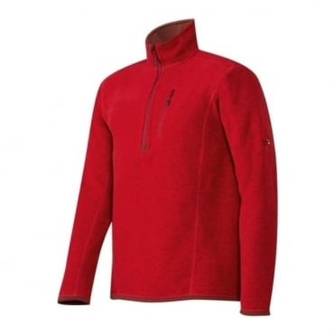 Men's Polar Midlayer Half Zip Pull - Lava Red