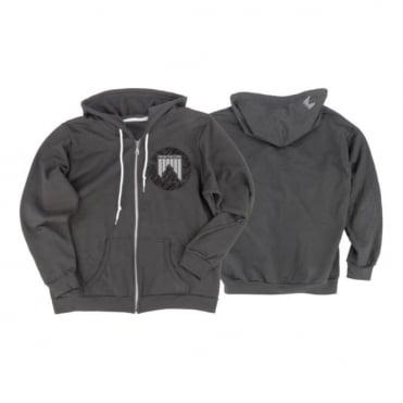 Men's Hoodie Zipped Eu Dashed - Charcoal Grey