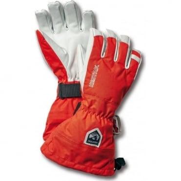 Alpine Pro Army Leather Heli Ski Gloves - Red