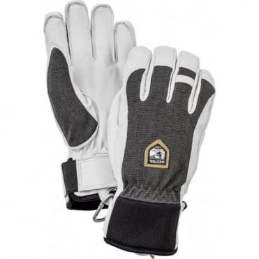 Alpine Pro Army Leather Patrol Gloves - Black