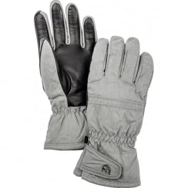 Primaloft Leather Female Gloves - Grey