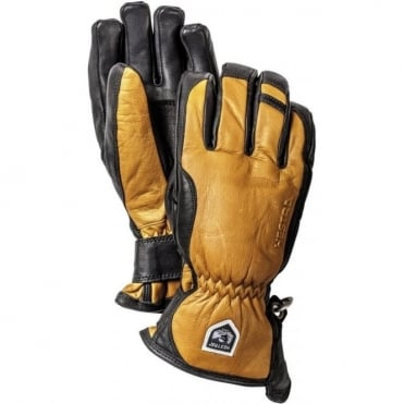 Alpine Pro Leather Swisswool Merino Glove - Brown
