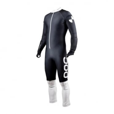 JUNIOR Padded Ski Racing Catsuit GS Skin Black/White