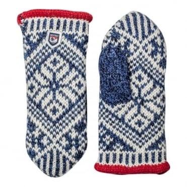 Sport Classic Nordic Wool Mitten - Navy/Grey