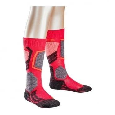 Junior Sk2 Ski Socks - Rose Pink