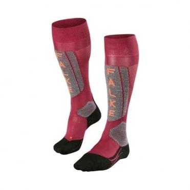 Wmns Sk5 Ski Socks - Red Plum