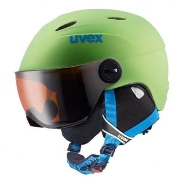 Junior Visor Pro Helmet - Apple Green