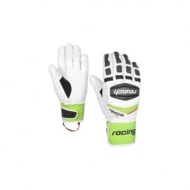 Tec 16 Race Gloves - White/Neon Green