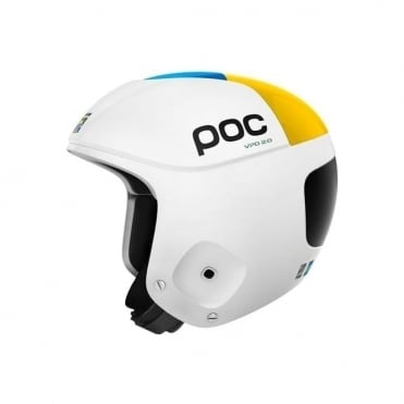 Orbic Comp Swede Edition Ski Race Helmet - White ( FIS Approved )