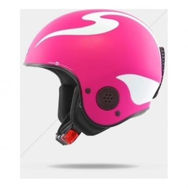 Rooster Discesa S Race Helmet - Shock Pink ( FIS Approved )