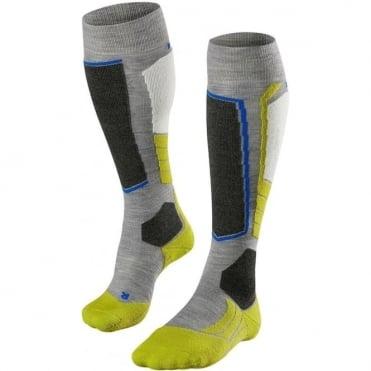 Unisex Sk2 Ski Socks - Grey/Lime