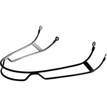 Slalom Chin Guard Troop Helmet - Black