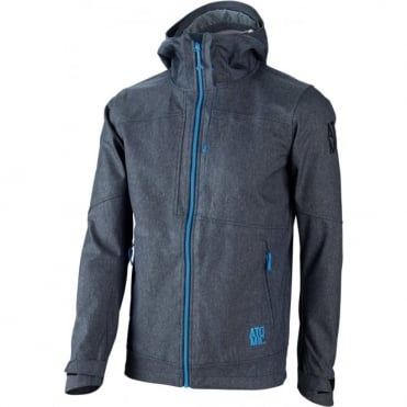 Mens Amt Softshell Hooded Jacket - Blue/Grey