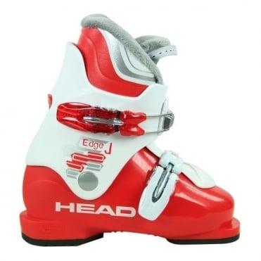 Junior Ski Boots Edge J2 (2013) White/Red