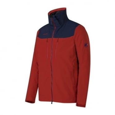 Men's Trovat Jacket - Carmine Red / Marine Blue