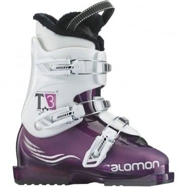 Junior Ski Boots T3 Girlie TR - White/ Purple