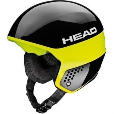 Stivot Race Helmet - Carbon Black/Yellow  (FIS Approved)