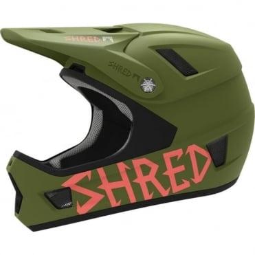 Shred Brain Box Bike Helmet - Woodland Green