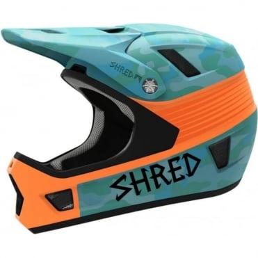 Shred Brain Box Bike Helmet - Yap Teal / Orange