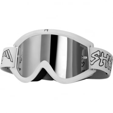 Shred Soaza Dirt Bike Goggles - Roost - Platinum Reflect + Clear + Blue + Yellow lenses