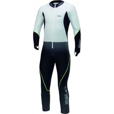 Head Race Team Racing Catsuit Light Padding - Black/White