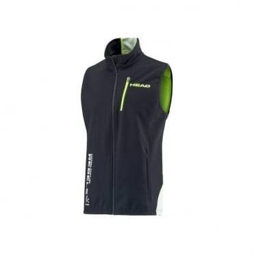 Race Team Softshell Junior Training Vest Black/White