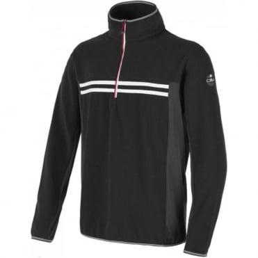 CMP Fleece Midlayer with 1/2 Zip - Black/white