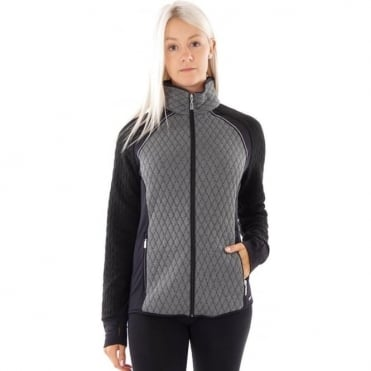 Mid Layer Women Campagnola Womens Fleece Jacket Black