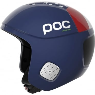 Skull Orbic Comp SPIN American Downhillier Edition Ski Race FIS Approved Helmet Blue