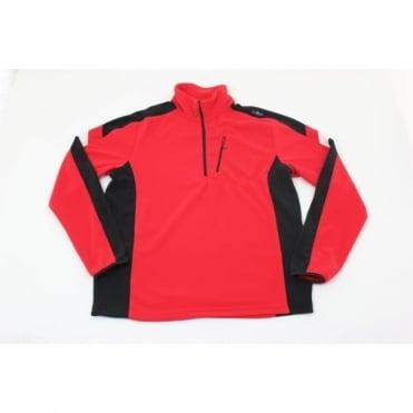 Half Zip Midlayer Fleece - Ferrari Red