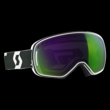Scott LCG Goggle - White/Black/Solar Green Chrome