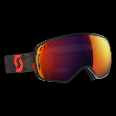 Scott LCG Goggles - Black/Red/Solar Red Chrome