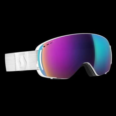 Scott LCG Compact Goggles - White/Solar Teal Chrome