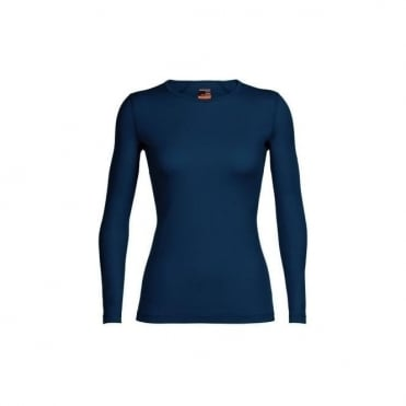 Icebreaker Women's Oasis Long Sleeve Crew Largo Blue