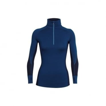 Icebreaker Winter Zone L/s 1/2 Zip Women's Largo/ Midnight Blue