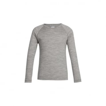 Icebreaker Junior Oasis Long Sleeve Crew Gritstone Heather Grey