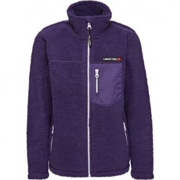 LEGO® Tec Saxton 773 Junior Polar Fleece Cardigan - Dark Purple